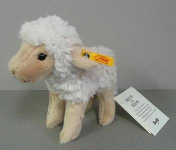 Crème//Beige Steiff 073090 Flocky Lamb Plush Animal Toy
